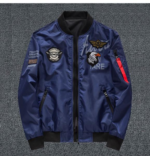 Mens Designer Veste De Luxe Eagle Broderie Badge Blouson De Vélo ASSTSERIES MILITARE Vêtements Double Face Portant Nous Taille S-6XL pour Printemps