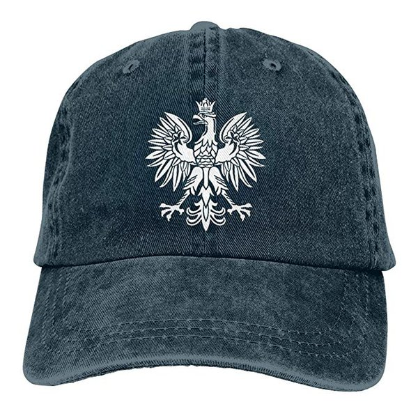 2019 New Wholesale Baseball Caps Polska Eagle Poland Pride Mens Cotton Adjustable Washed Twill Baseball Cap Hat