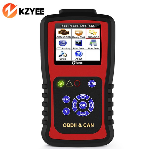KZYEE KC501 OBDII Automotive Scanner for Engine/ABS/Airbag/SRS/SAS Reset Support Spanish English French OBD2 Diagnostic Tool
