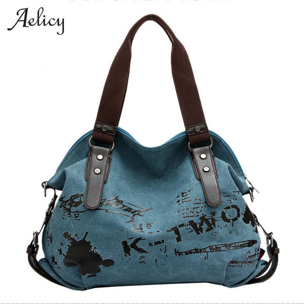 Graffiti Women's Bag High Quality Canvas Handbag Female Famous Designer Shoulder Bag Ladies Tote Bolsa