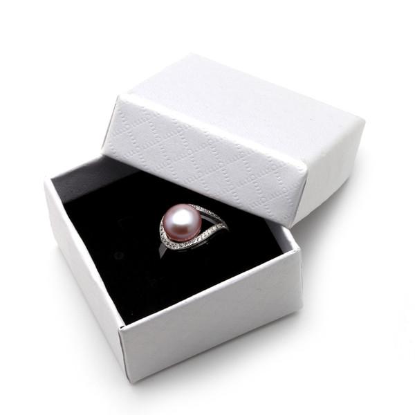 JNMM Casamento Real Black Pérola de Água Doce Anéis para As Mulheres, Branco barato boêmio anel de prata 925