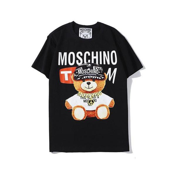 20SS Luxe Hommes Femmes T-shirt OURS Imprimer Lettre Tops Streetwear T-shirts Hip Hop Kanye haute qualité Hommes Vêtements Coton Tee YFQ62