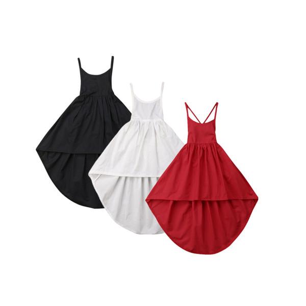 Toddlers Baby Girls Kids Irregular Bandage Summer Dress Sundress Sleeveless Outfit