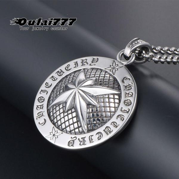 2019 stainless steel wholesale men necklace women long mens jewelry neck pendant chain friends punk fashion personalized