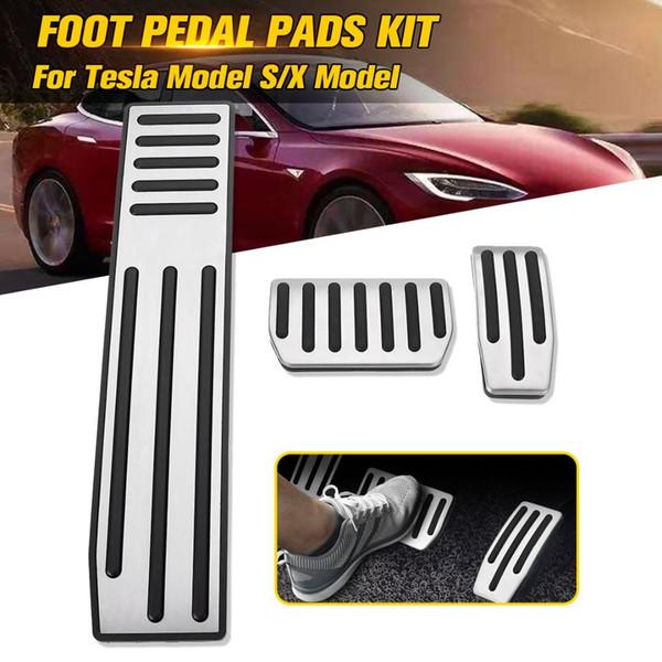Antidérapante en alliage d'aluminium Performance pédale d'accélérateur Pad pour le modèle X S 2012 2013 2014 2015 2016 2017 2018
