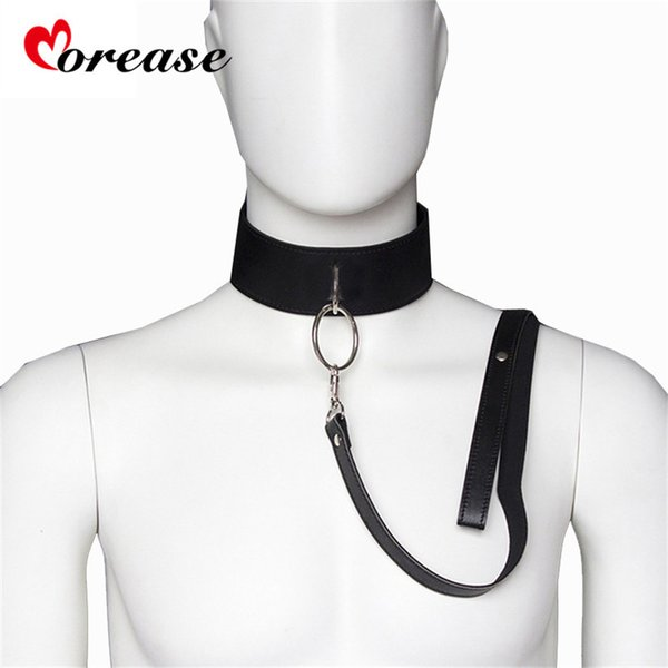 Sex Slave Bondage Collar and leash Neck Dog Collar Leather Harness Fetsih Erotic BDSM Sex Adult Games Toys For Couples Woman Men C18112701