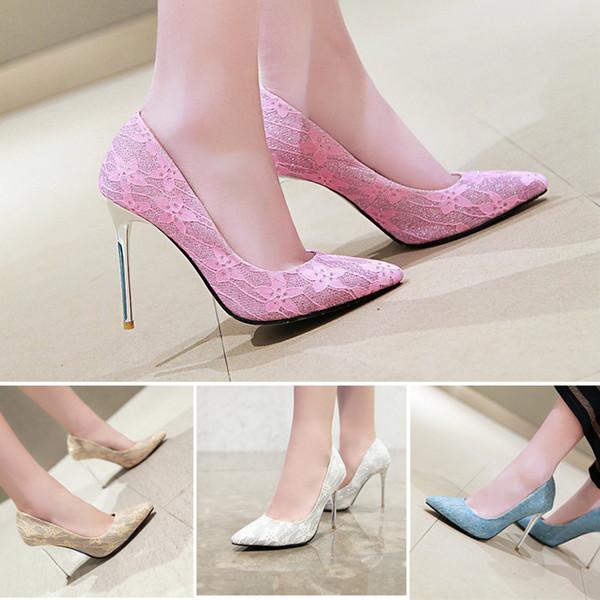 Nueva Sexy Stiletto Heel Lentejuelas Tela punta estrecha Mujeres Bombas 100  mm Moda Tacones altos Zapatos 8a9300610e6f