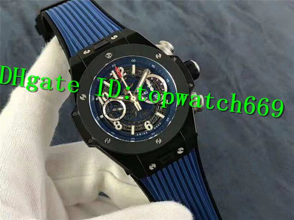 HB New Luxury Men Watch 411.NM.1170.RX Watch 1241 Automatic Movement Stainless Steel Case Power reserve 72 hours Rubber Strap Men Watch