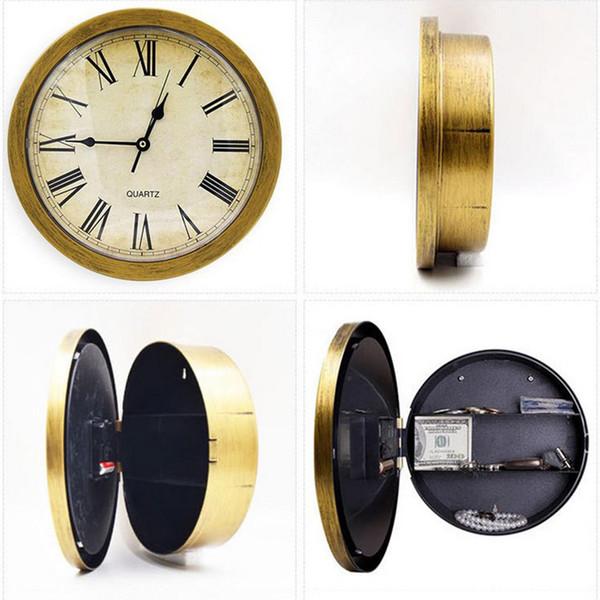 top popular Retro Roman Numerals Clock Safe Wall-Mounted Hanging Hidden Storage Box 2020