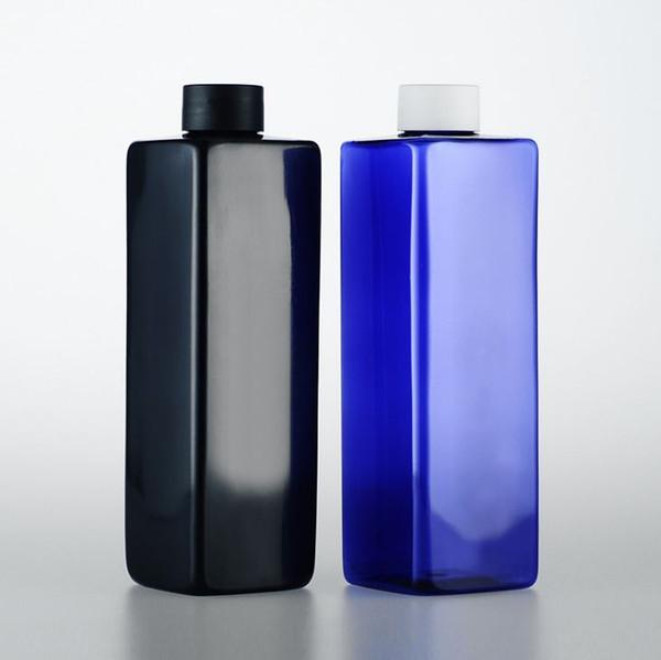 10 unids / lote PET Vacío Loción Plástica Champú Emulsión Refiiable Botella 500 ml Con Cubierta Envases de Envases Cosméticos