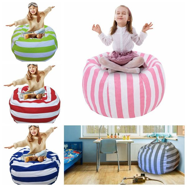 Magnificent Kids Stuffed Animal Storage Bean Bag 18Inch Cotton Canvas Organizer Box Organization Sack Chair Portable Clothes Storage Ooa4637 Baby Hand Bags Dailytribune Chair Design For Home Dailytribuneorg