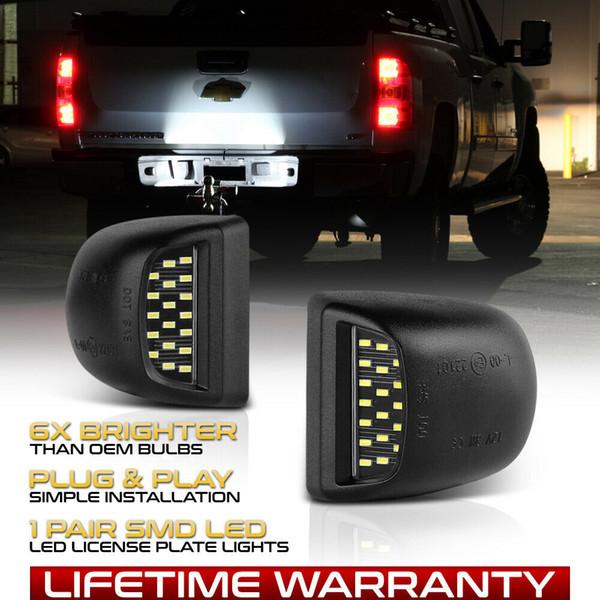 1999-2013 Chevy Silverado Avalanche BRIGHT SMD LED Set di luci per luci targa