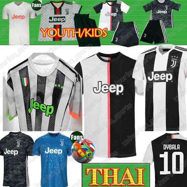 Thai 18 19 20 Ronaldo Juventus Soccer Jersey Juve Kids Men Women