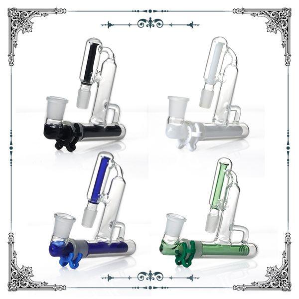 Recycler le cendrier en verre 90 degrés 18.8mm joint Mix Ashcatchers pour Glass Pipes à eau bongs accessoires livraison gratuite