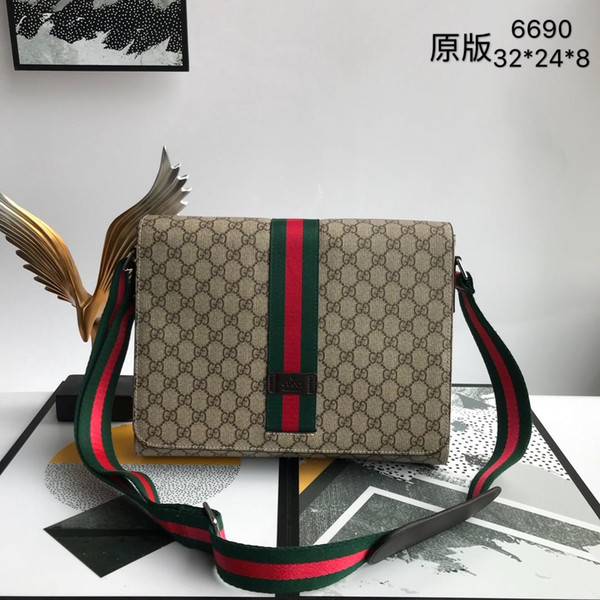 best selling New Fashion Business Imported pvc with top layer cowhide Men Messenger Bags Promotional Small Crossbody Vintage Shoulder Bag Casual Man Bag