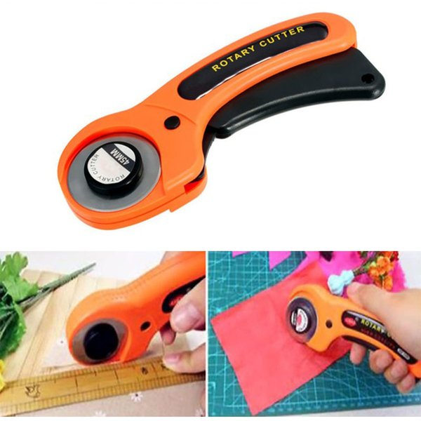 Cloth Rotary Cutter DIY Arts Crafts Cutting Tool Patchwork Roller Wheel Round Knife Sewing Accessories Leather Paper Fabric Tool DBC VT1181