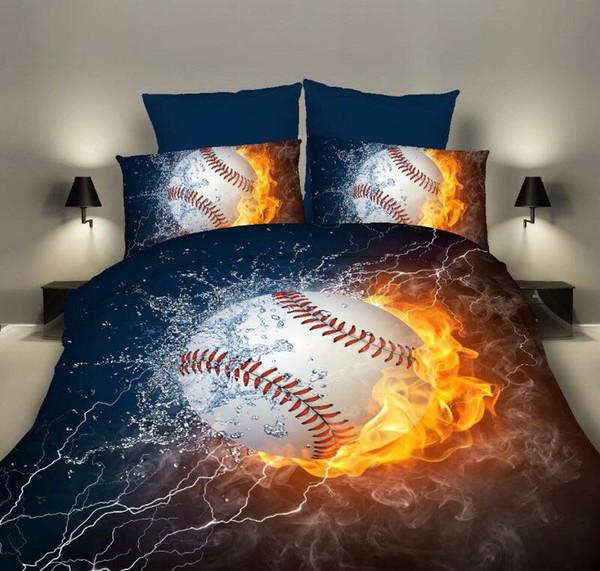 Duvet Cover & Pillowcase Set Bedding Base Ball Quilt Case Bedding Bedroom Design Duvet Cover Bedding Set Twin Full Queen King