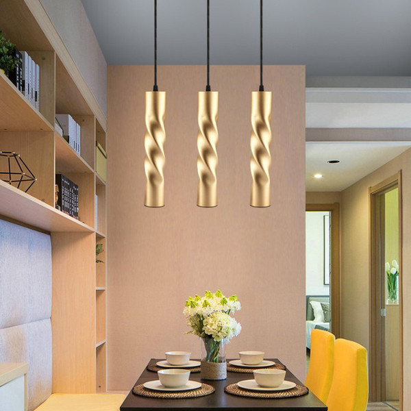 Pendant Lamp dimmable Lights Kitchen Island Dining Room Shop Bar Counter Decoration Cylinder Pipe Pendant Lights Kitchen Lights