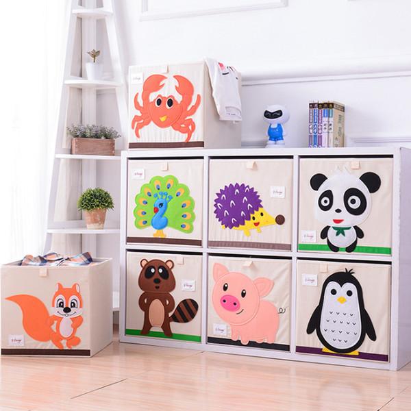 Embroider Cartoon Animal Foldable Storage Box Kid Toy Organizer Clothes Storage Bin For Socks Underwear Ties Bra Desktop Box New