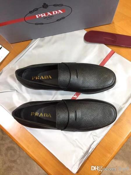2020 tasarım markası bağbozumu ayakkabı erkek ayakkabı Gündelik ayakkabı Arı hakiki deri kış siyah Artı boyutu US11 YETC12 italyan elbise ayakkabı mens