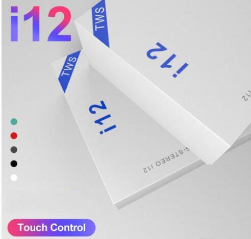 I12 TWS bluetooth 5.0 cuffie bluetooth wireless supportano auricolari auricolari cuffie wireless di controllo tocco di colore