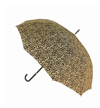 Women Umbrella luxurious fashion Portable Ins sexy long handle leopard print Fold beach sunshade Simple cute love automatic Rain Umbrella