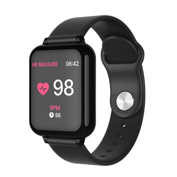 B57 smart watch su geçirmez nabız kan basıncı çoklu spor modu smartwatch kadınlar giyilebilir izle erkekler akıllı saat