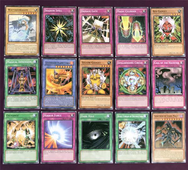 Yugioh Cards Caixa de Cores Pacote Inglês Versão 66 PCS / set The Strongest Damage Jogos de Tabuleiro Coleção Cartões Toy Kids Brinquedos USS179 atacado