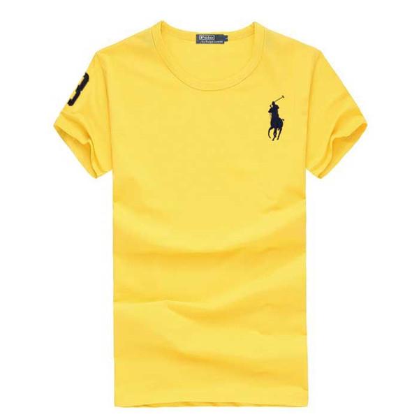 Nouveau 2019 été Casual T-shirts Hommes Grande Cheval Broderie Blanc T Chemises Mâle O-Cou À Manches Courtes Tees 100% Coton, Plus La Taille S-4XL