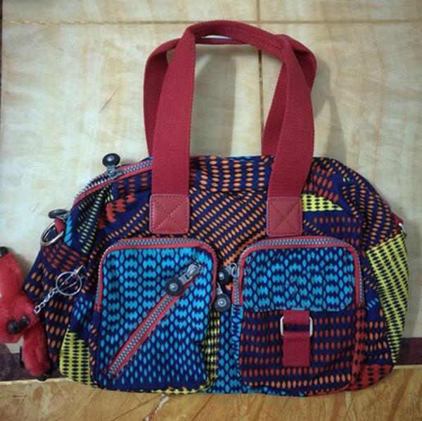 Men madam Ultralight stripe zipper waterproof Nylon monkey star PRINTED Multicolor pocket backpack City Pack in common use Pack K13636-14