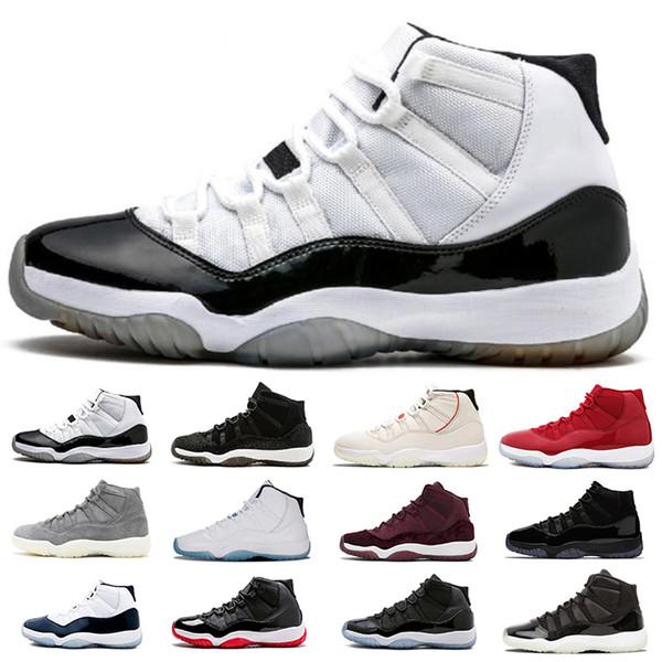 Acquista Nike Air Jordan 11 Classic 11 Space Jam 11s Concord 45 Back 23 Platinum Tint A Basso Impatto Gamma Blu Uomo Scarpe Da Basket Scarpe Da