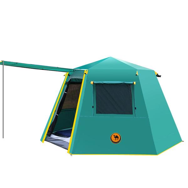 Acheter Nouvelle Arrivée UV Hexagonal Pôle En Aluminium Automatique Camping  En Plein Air Sauvage Grande Tente 3 4personnette Auvent Jardin Pergola 245  ...