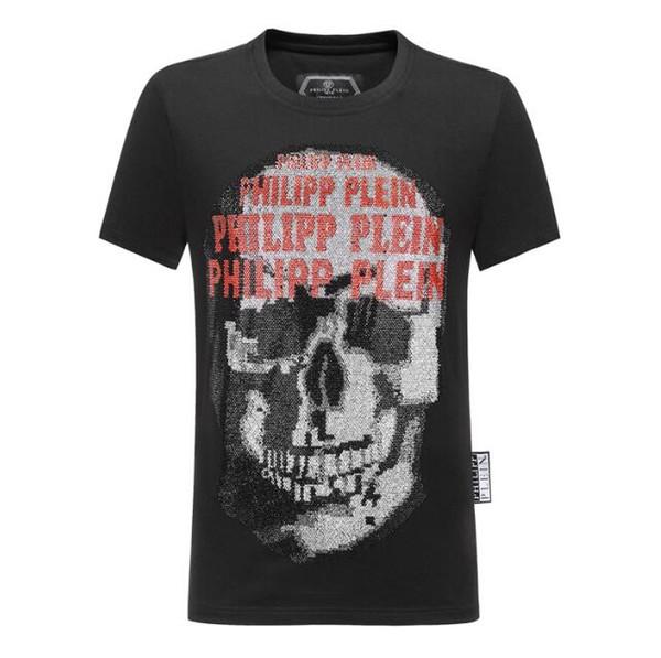 Diseñador de calidad de algodón nuevo O-cuello de manga corta camiseta cabeza de fantasma marca de los hombres estilo de la moda de los deportes de los hombres camiseta envío gratis # 86