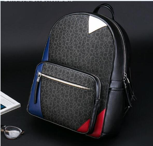 Best selling European fashion brand designer men's backpack high quality school bag free shipping fast shipping