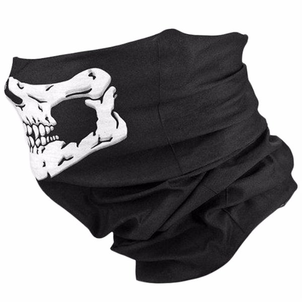 Skull Traditional Cycling Face Head Mask Gator Black NWT Tactical Cycling Head Cover Motorcycle Face Protective Covers