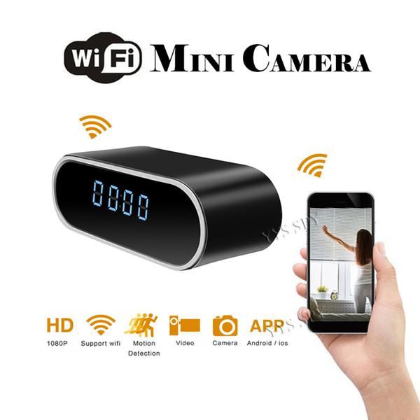 Wifi Digitaluhr Videokamera Comsumer Camcorder Full HD 1080P Nachtversion Videokamera Spycam Professional Versteckte TF-Karte