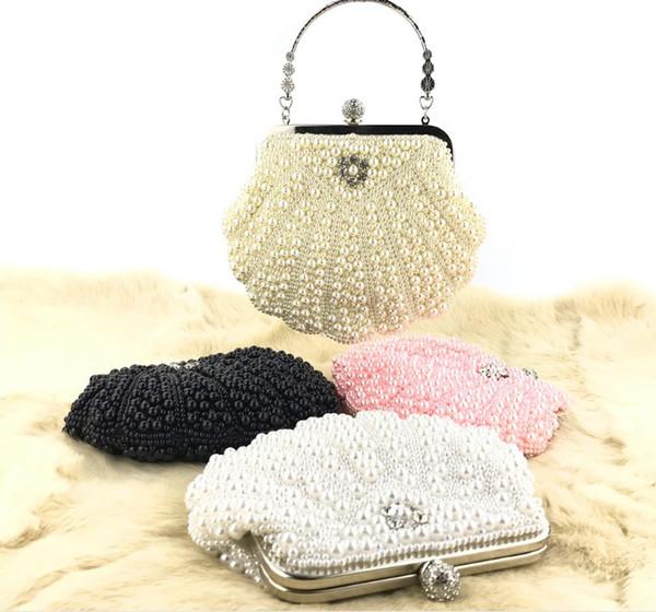 New large shell pearl bag evening bag handbag Clutch Women Clutch Wedding Party Purse Case Box Clutch Bridal Wallet Shoulder Bag