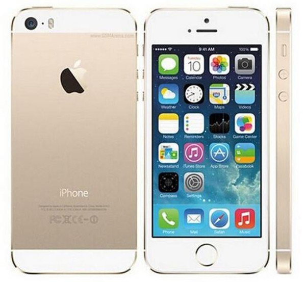 """Apple iPhone 5S No Touch ID 64GB 32GB 16GB Rom iOS 4.0"""" IPS HD A7 8MP Unlocked Used Phone"""