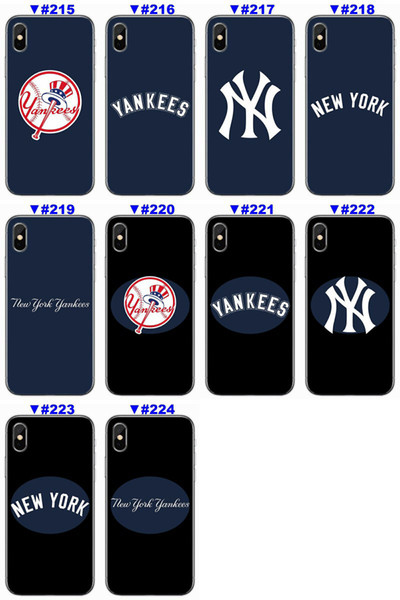 [TongTrade] Soft Silicone TPU Case For iPhone X 8 7 6s 5s Plus Cover NewYorkYankees Coloured Painting Galaxy S9 S8 S7 S6 Edge Plus Case