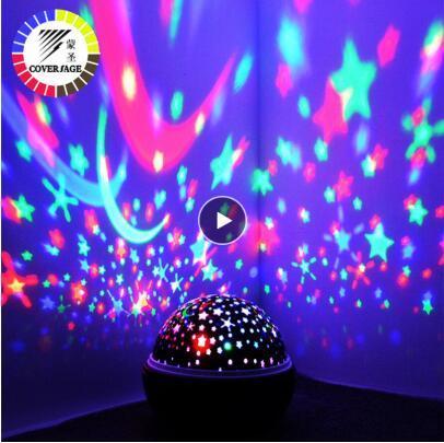Rotation Veilleuse Projecteur Spin Starry Sky Étoile Maître Enfants Enfants Sommeil de bébé romantique Lampe USB Led Projection