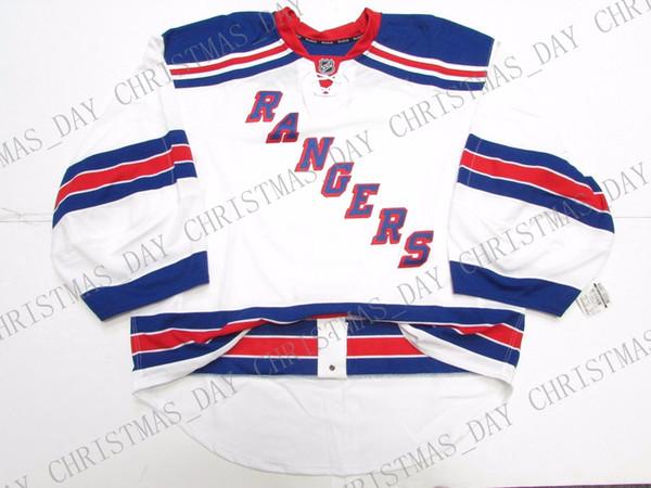 Günstige benutzerdefinierte NEW YORK RANGERS AWAY JERSEY GOALIE CUT Stich hinzufügen, eine beliebige Nummer, einen beliebigen Namen Mens Hockey Jersey
