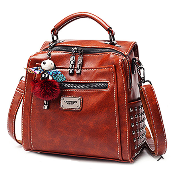top popular New Fashion Embossing Woman Backpack 100% genuine Leather Softback Female Backpacks Real Leather High Quality Schoolbag Backpack 2020