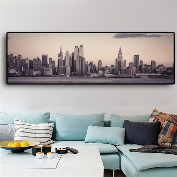 1 Pcs Manhattan Empire State Building City Landscape Canvas Art Posters and Prints Scandinavian Wall Picture No Frame