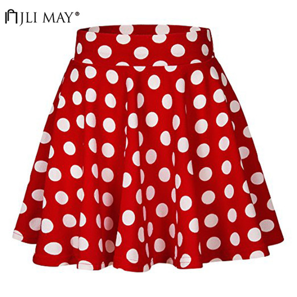 wholesale High Waist Polka Dot Mini Skirts women Summer Girls Harajuku short Skirt A-line casual Japan Korean style school Women