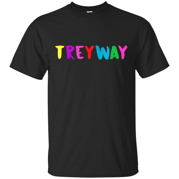 TreyWay Stoopid 6IX9INE-KINGNYC-Regenbogenhemd Rap Music Black T-Shirt Größe S-5XL Lustiges freies Verschiffen Unisext-stück