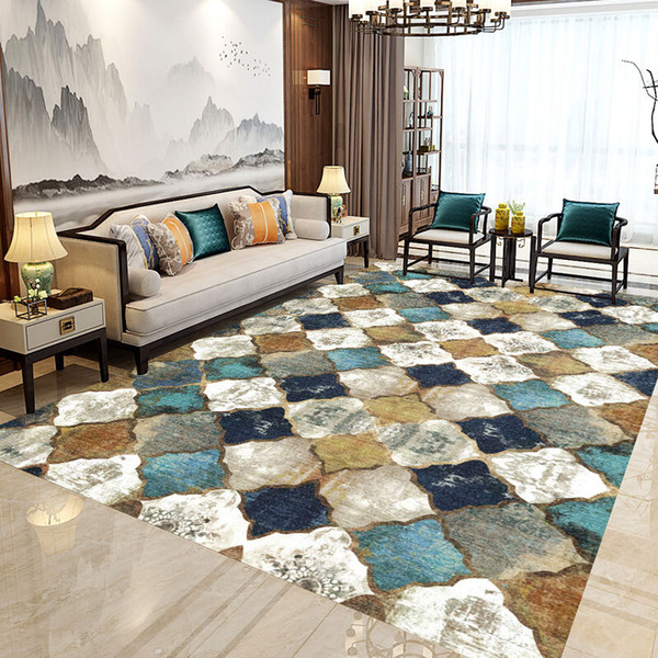top popular Non-slip Floor Mat Rectangular Carpet Moroccan Runner Rug for Bedroom Living Room Dining Room Kitchen rugs 2021