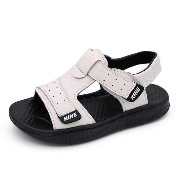 Boys Sandals Summer Little Kids Shoes for Boy Sandals Genuine Leather Toddler Baby Shoes Soft Rubber Bottom