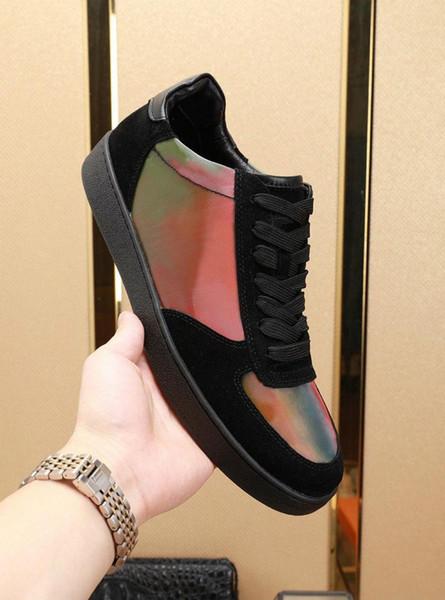 LUSSEMBURGO scarpe firmate Rivoli Boombox Casual Scarpe in pelle bianca 3M scarpe di marca Trainer uomini bassi superiore di modo libero con i formato della scatola 36-44 F6