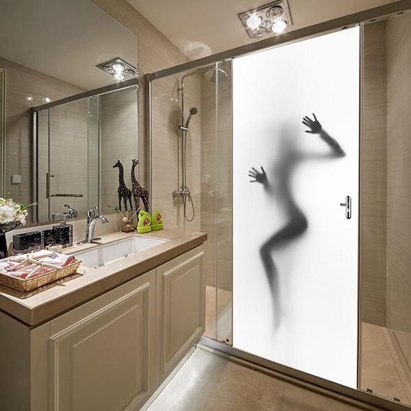 Kreative Tür Wandaufkleber Frauen Schatten Tür Wandtattoo selbstklebende Wasserdichte Tapete DIY Home Schlafzimmer Dekor Poster