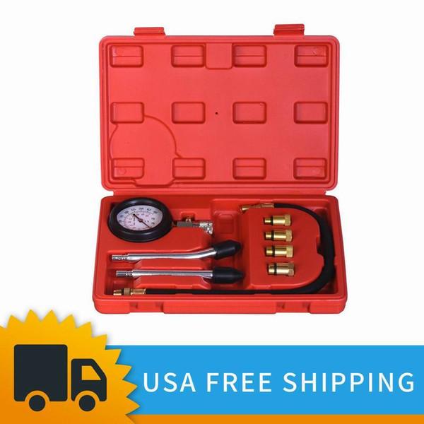 Jauge automobile d'outils de kit de testeur de compression de cylindre de moteur à essence avec le cas